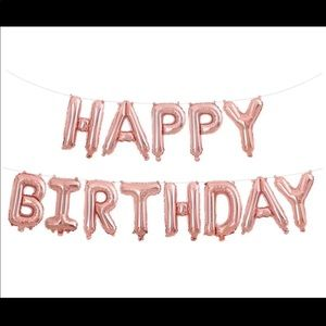"""Other - Rose Gold """"Happy Birthday"""" Balloon Banner"""